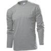 stedman-st2130-long-sleeve-pikk-kais-meeste-sark-hall-grey-heater-kuumkile-trukk-logo-nimi