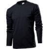 stedman-st2130-long-sleeve-pikk-kais-meeste-sark-must-black-opal-logo-trukk