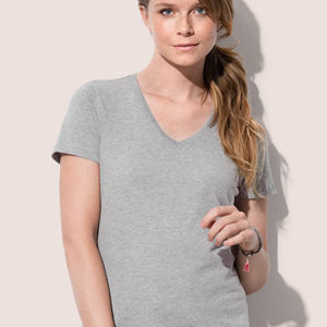 Naiste T-särk V-kaelusega